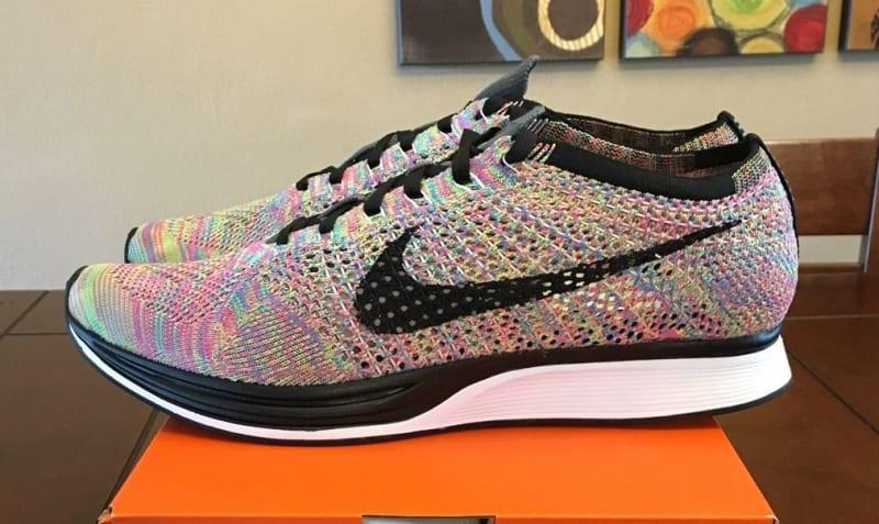 Nike Multicolor Flyknit Racers size 5
