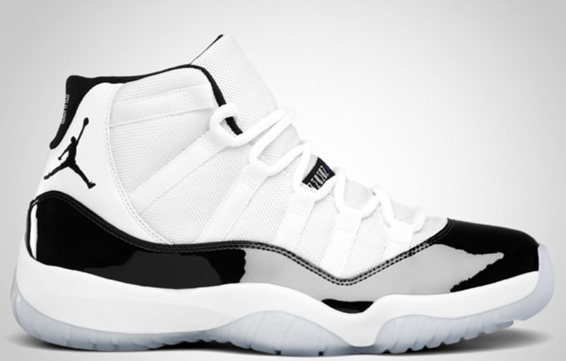 air jordan 11 retro black and white