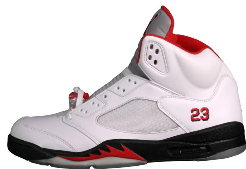 Air Jordan 5 Retro Collezione \u0027CDP\u0027. Colorway: White/Fire Red-Black Release  Date: 08/23/2008. Original Price: $310. Average Resell Value: $265