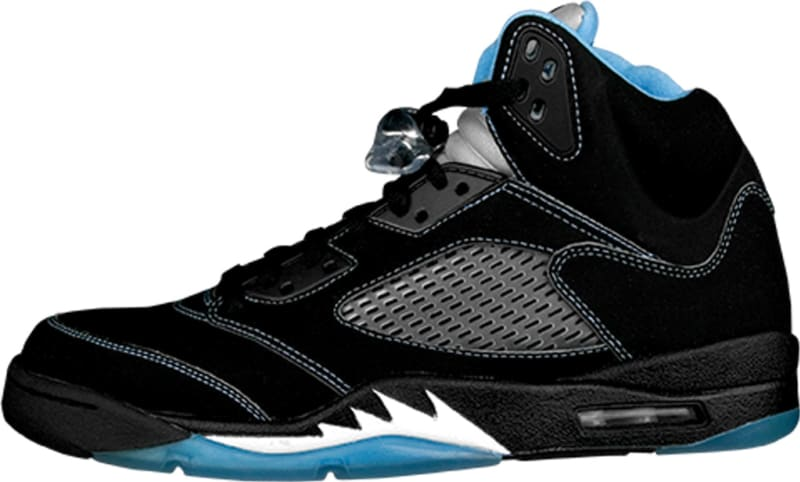 air jordan 5 black carolina blue