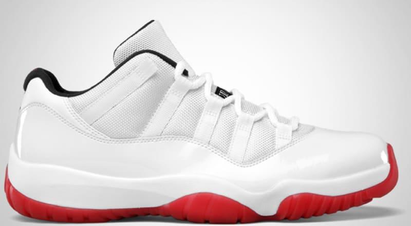 Shop Discount Nike Air Jordan 11 Low White Varsity Red 136053 16