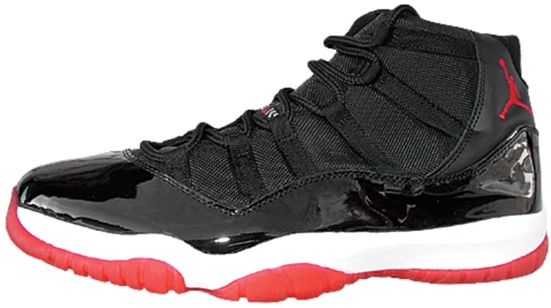 nike air jordan 11 retro black/varsity red-white 2001 calendar