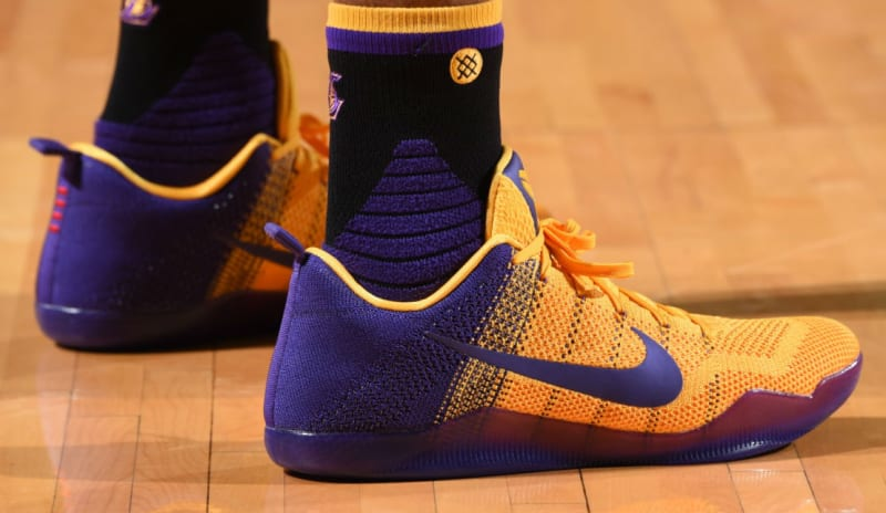 huge discount 41f96 e4413 ... yellow Nike Kobe 11 PurpleYellow PE ...