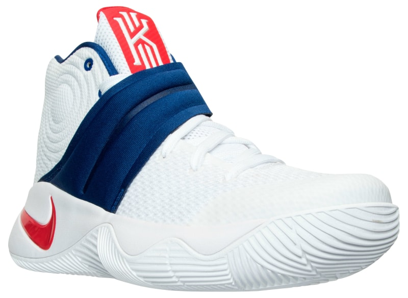 bca6016ee806 ... 819583-164 SneakerNews.co Nike Kyrie 2 Mens Nike Kyrie 2 4th of July White  Blue Basketball Shoes ...