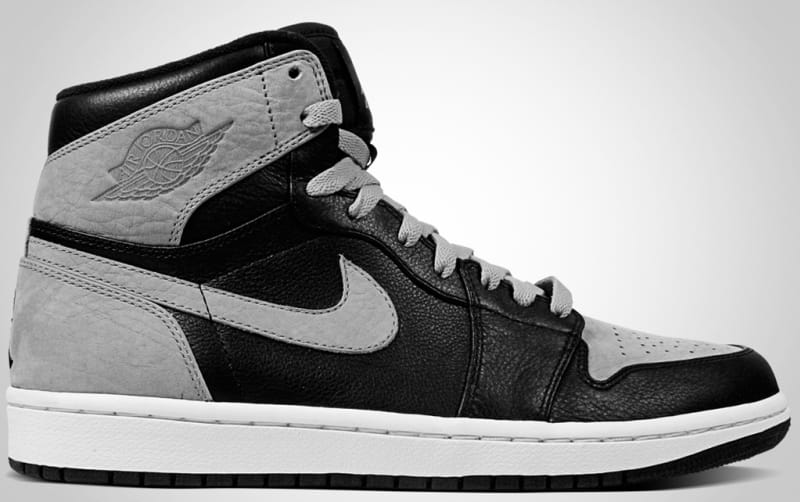 air jordan 1 retro high black shadow grey white background