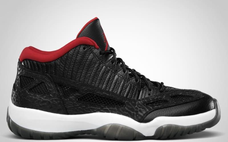 Air Jordan 11 Retro Low Black Varsity Red