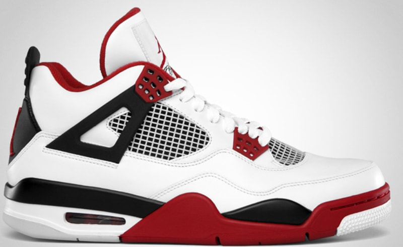 air jordan retro 4 red fire background