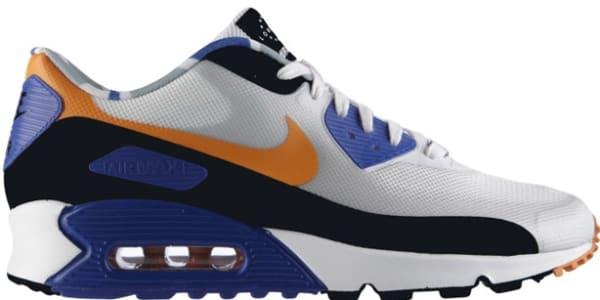 Nike Air Max '90 QS London White/Cool Grey-Mandarin-Hyper Blue ...