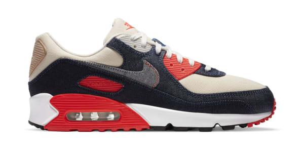 Denham x Nike Air Max 90 Denim/Infrared/Ecru/Medium Denim   Nike ...