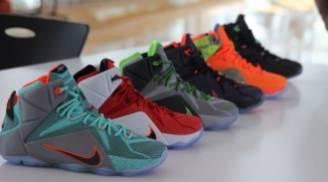 Nike LeBron 12 Data Black Bright Mango Hyper Punch Volt