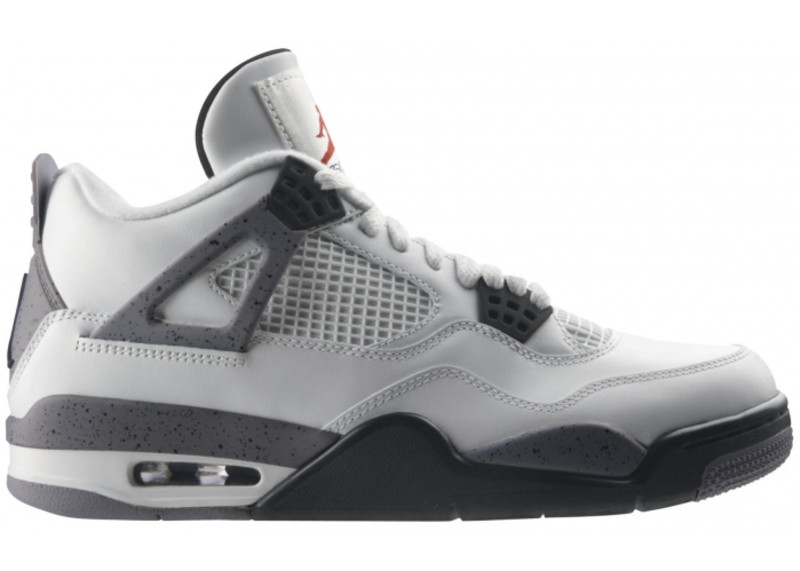 Air Jordan 4 Grey White