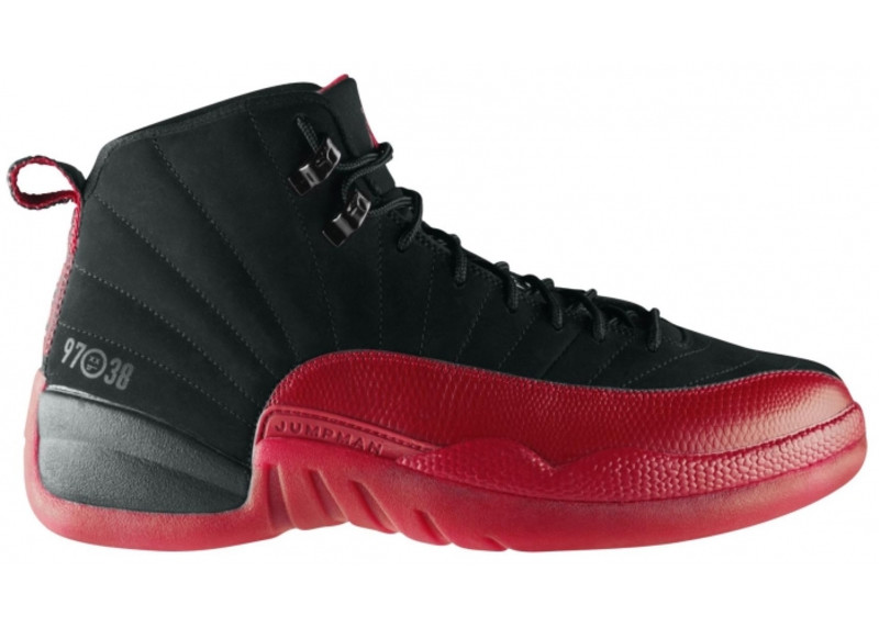 air jordan retro 12 black red