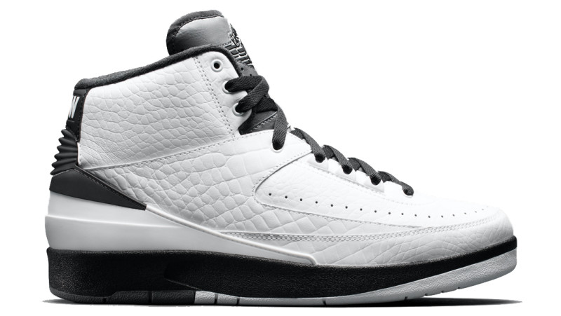 black and white jordan 2