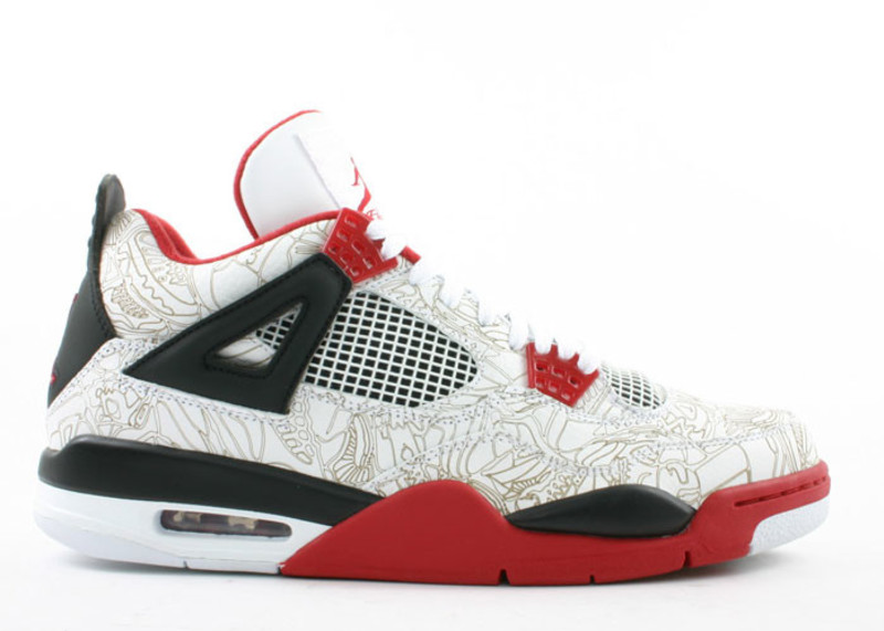 Air Jordan 4 Retro \\u0026quot;White/Red Laser\\u0026quot; Resale Price