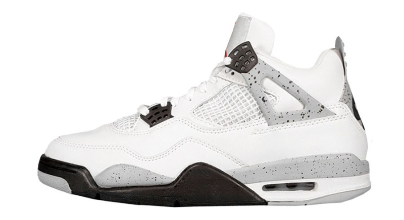 Air Jordan 4. The gray specks add a little bit of street to an otherwise