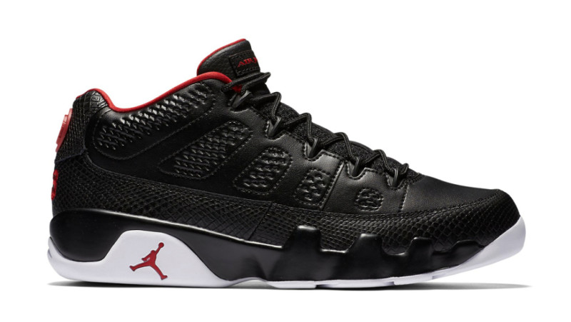 black and red jordan 9s