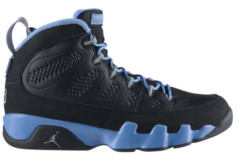 air jordan 9 black and blue