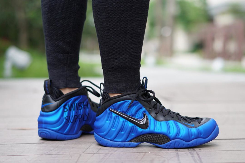 Nike Air Foamposite Pro Dark Neon Royal Blue Black Shoes