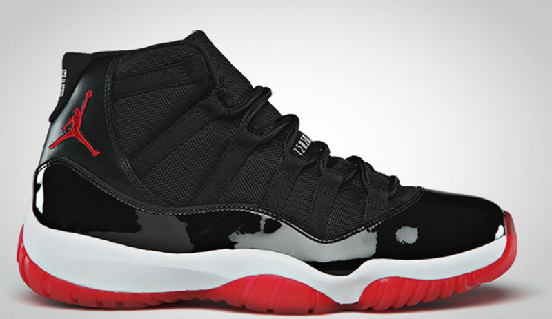 Mens Air Jordan 11 Michael Jackson Black White Red shoes