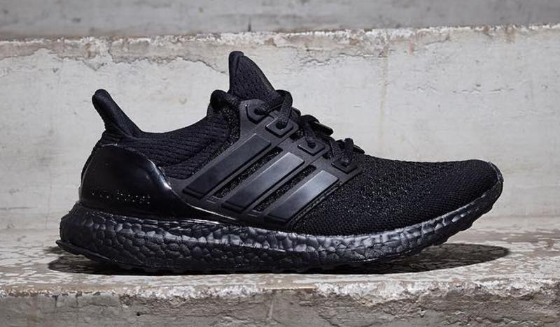 Adidas Ultra Boost White Black Bottom