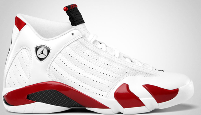 Air Jordan 14 Retro \u0026#39;Candy Cane\u0026#39; Colorway: White/Black-Varsity Red Release Date: 03/10/2012. Original Price: $160. Average Resell Value: $335