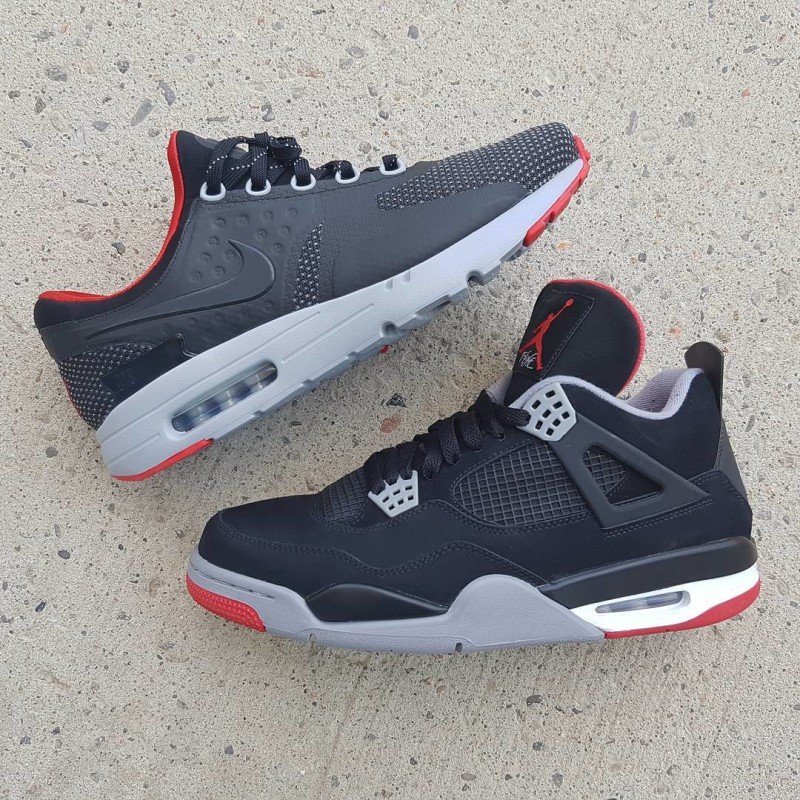 air max noir rose et blanc - Bred Air Jordan 4 x Nike Air Max Zero iD | Sole Collector