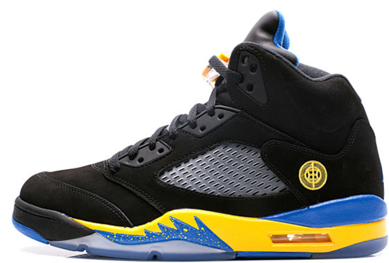 Air Jordan Retro 5 Blue And Yellow