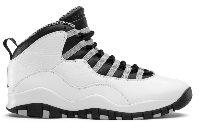 black and grey jordan 10