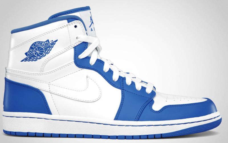 air jordan 1 blue and white