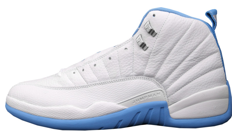 blue and white jordan 12