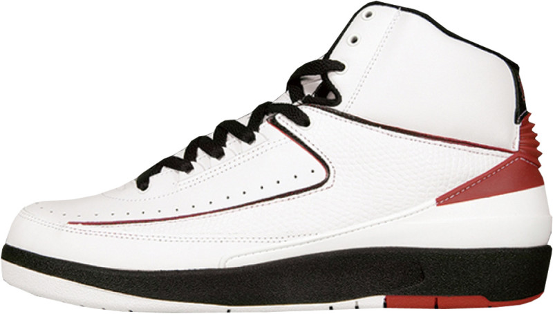 Air Jordan 2 Retro White Varsity Red Black 2004