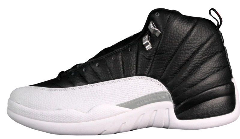 black and white jordan 12