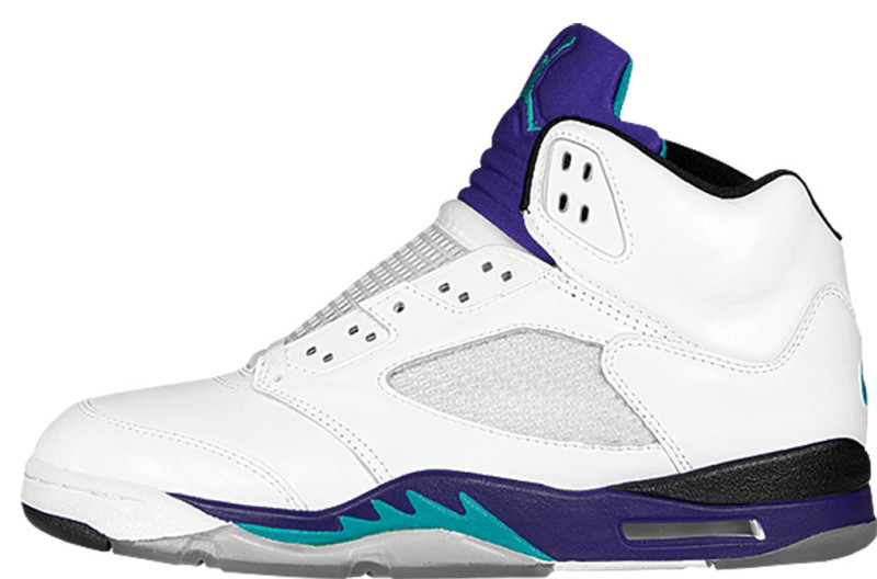 jordan 5 blue and white