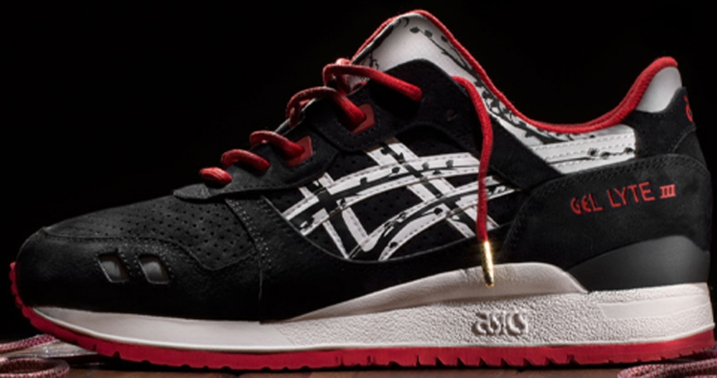 Asics Gel Lyte Iii Black And Red