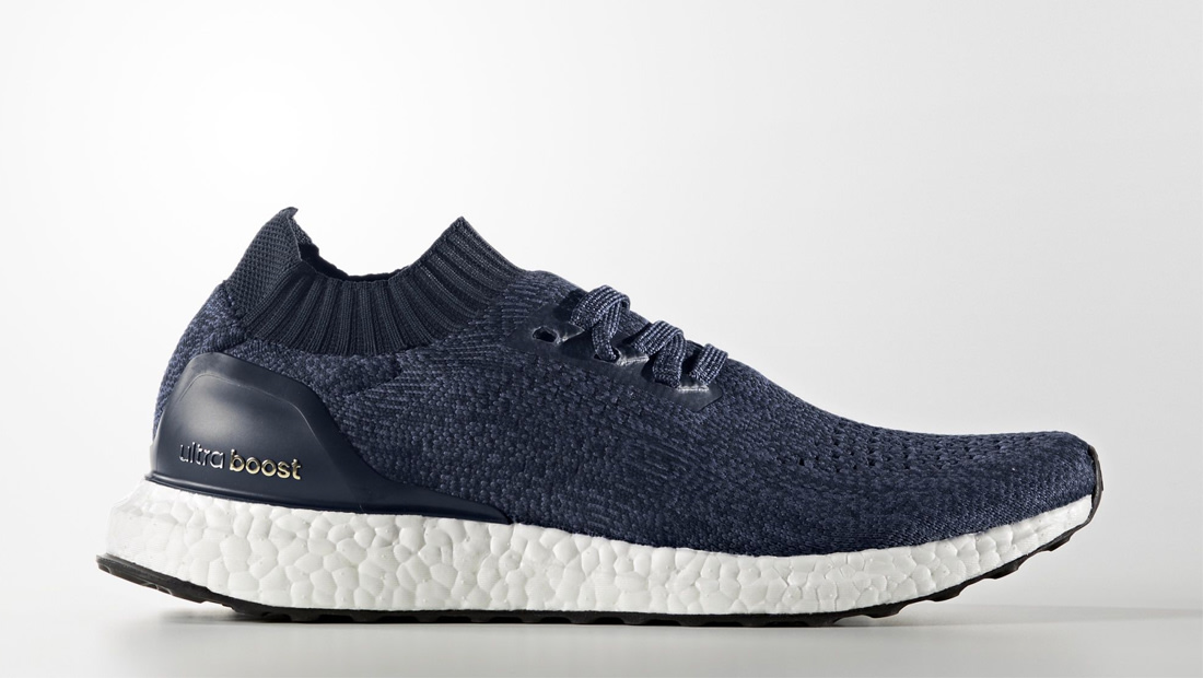 Adidas Ultra Boost Uncaged Shoes Black And Navy Blue