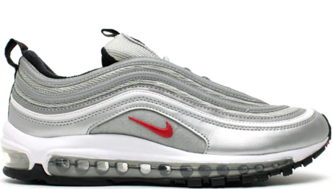 Nike Air Max 97 Metallic Silver Varsity Red