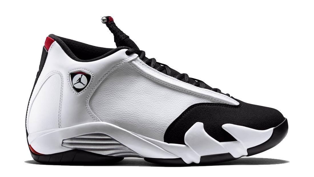 black and white jordan 14