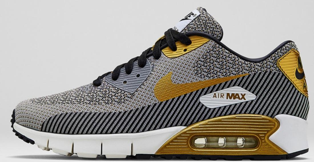 Nike Air Max \u0026#39;90 JCRD Premium QS Ivory/Metallic Gold-Metallic Silver-
