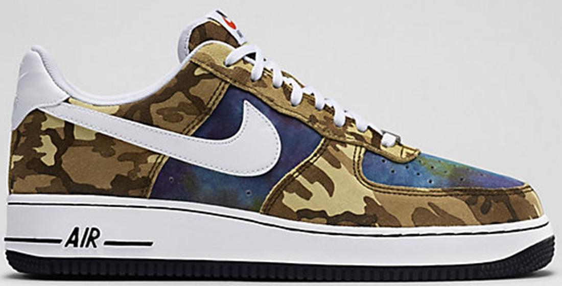 Nike Air Force 1 Deep Navy Metallic Gold White
