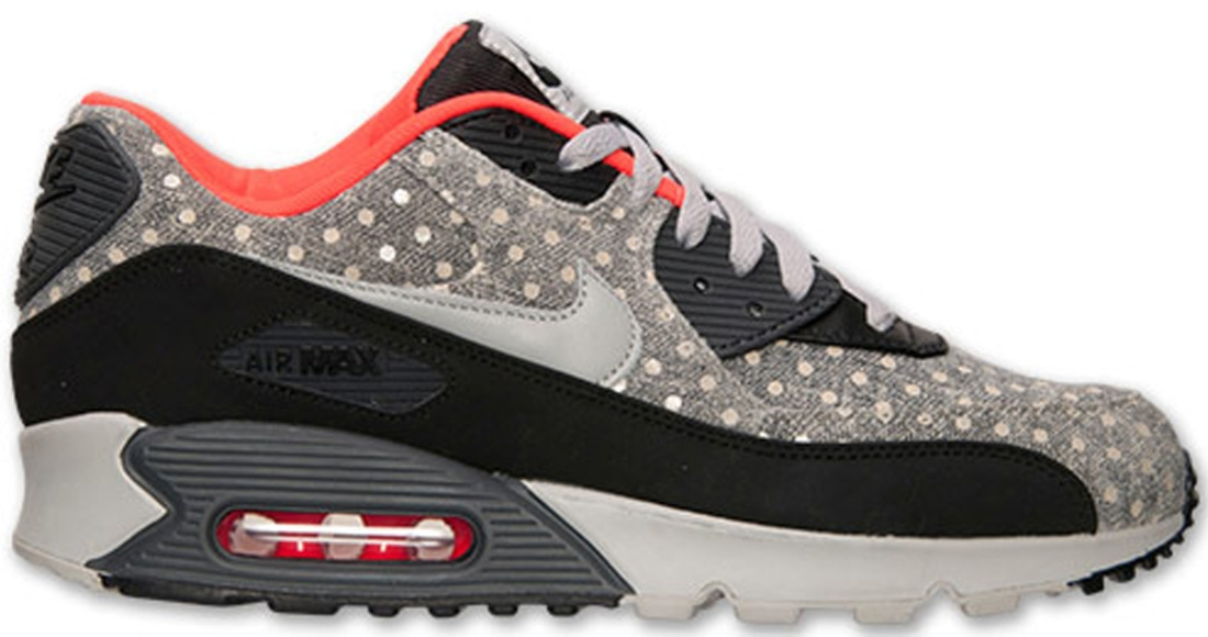 Nike Air Max \u0026#39;90 Leather Premium Black/Granite-Anthracite-Bright Crimson