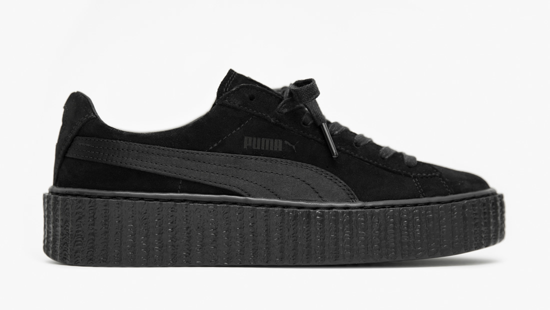 puma suede creepers x fenty by rihanna triple black. Black Bedroom Furniture Sets. Home Design Ideas