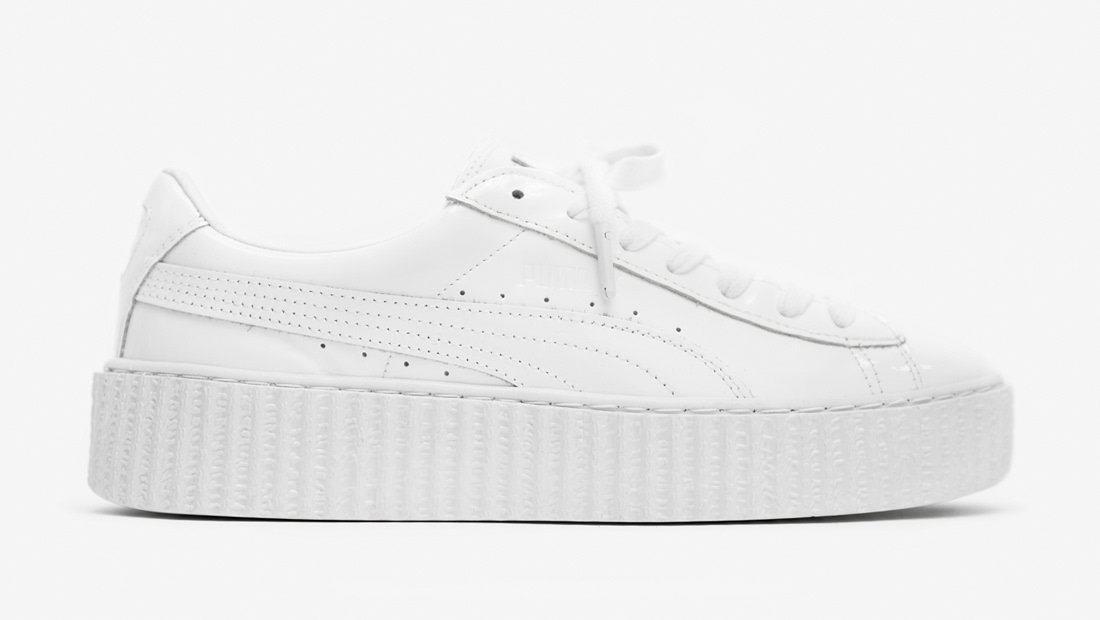 puma suede creepers x fenty by rihanna triple white. Black Bedroom Furniture Sets. Home Design Ideas