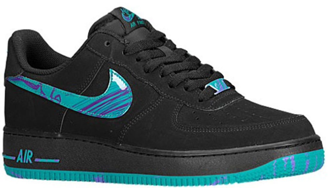 Nike Air Force 1 Low Black/Turbo Green-Purple Venom