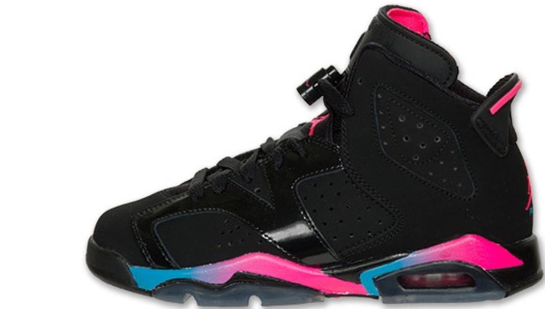 Air Jordan Vi Blue And Pink