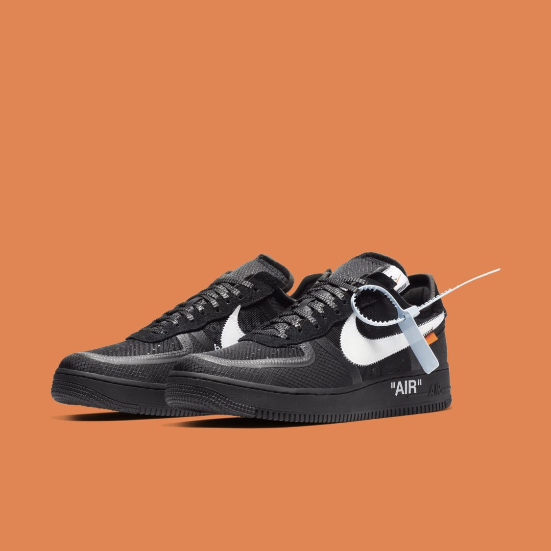5643cf4598d64 Off-White x Nike Air Force 1 Low  Black White  AO4606-001 Release ...
