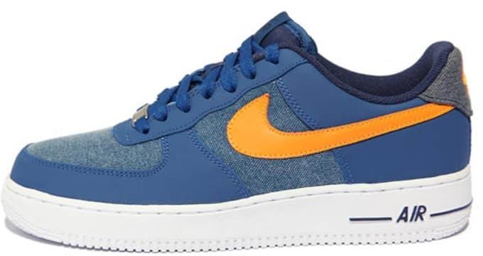 Nike Air Force 1 Low Storm Blue/White-Vivid Orange | Nike | Sole ...