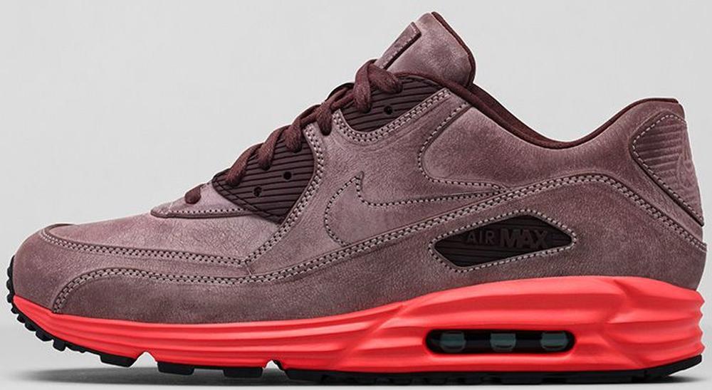 Nike Air Max Lunar90 Leather Mahogany/Mahogany-Bright Crimson-Pebble Red