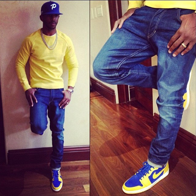 Chris Paul wearing Air Jordan 1 Retro Hi Laney