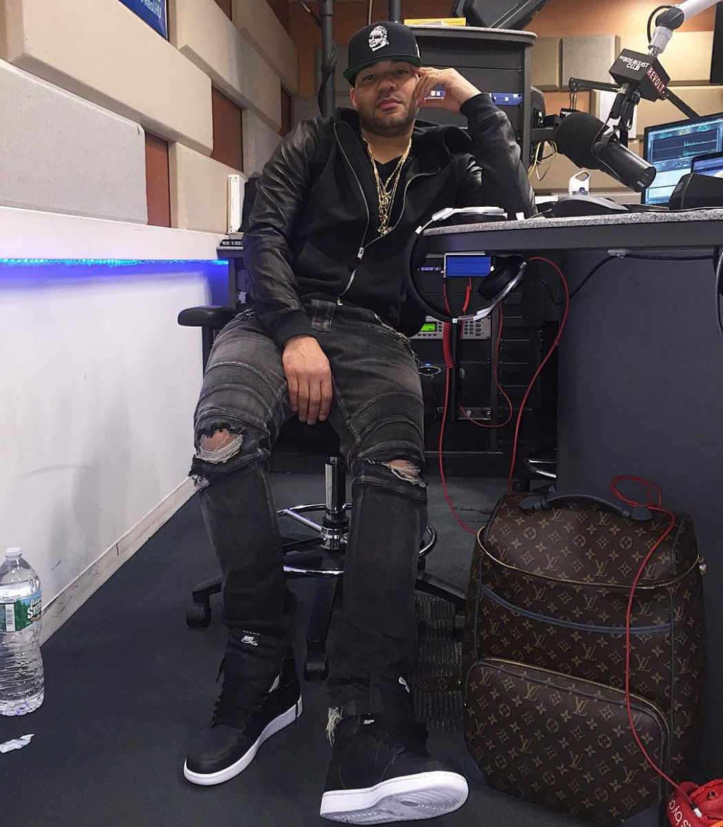 DJ Envy wearing the  Cyber Monday  Air Jordan 1 12cd73486