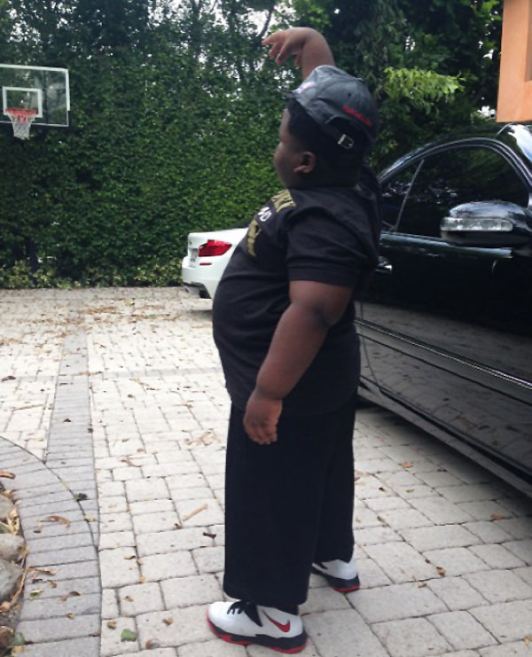 TerRio wearing Nike Zoom Soldier 7 GS